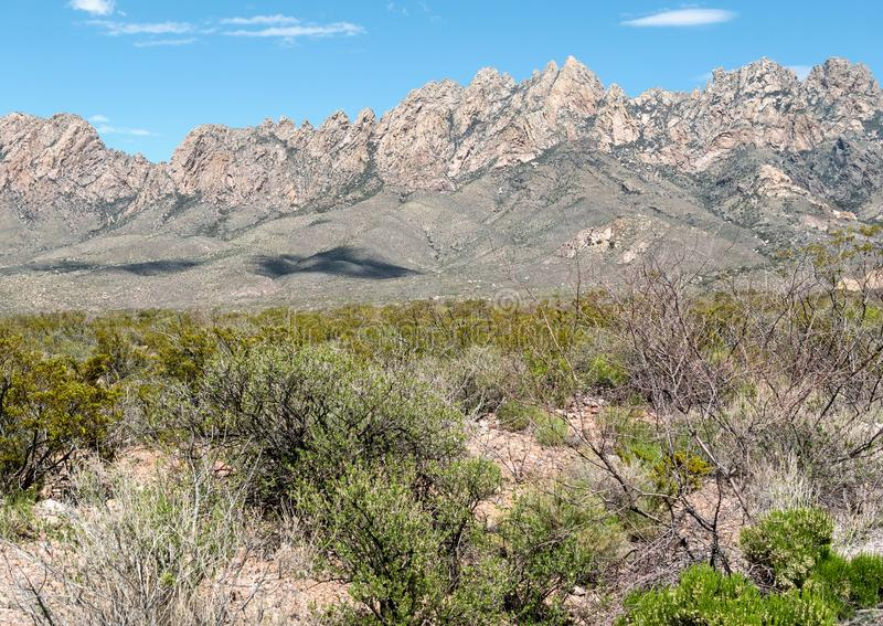 Organ Mountains - Desert Peaks National Monument. The Organ Mountains - Desert Peaks National Monument in southern New Mexico stock photos
