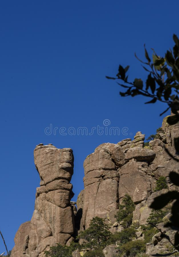 Organ Pipe Formation at the Chiricahua National Monument stock images
