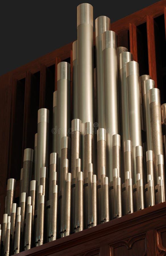 Organ pipes. A shot of pipe organ pipes royalty free stock photo