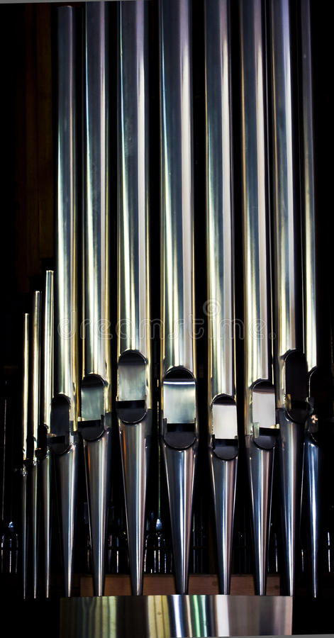 Download Organ pipes stock photo. Image of silver, pipe, choral - 25981924