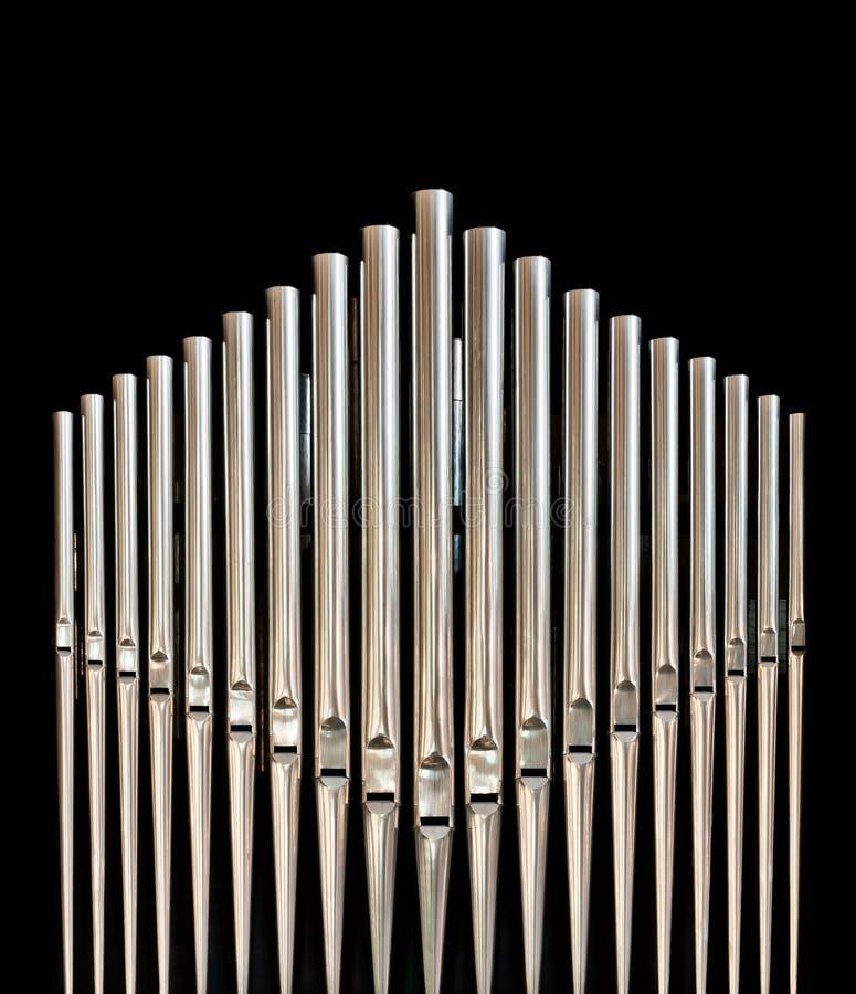 Organ pipes royalty free stock photos