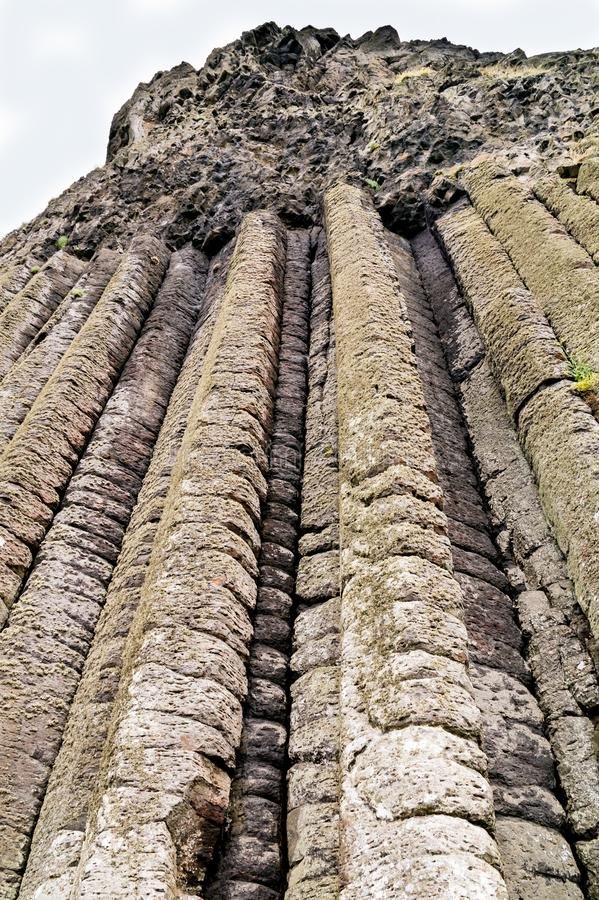 The Organ Pipes at the Giant`s Causeway, Northern Ireland royalty free stock photos