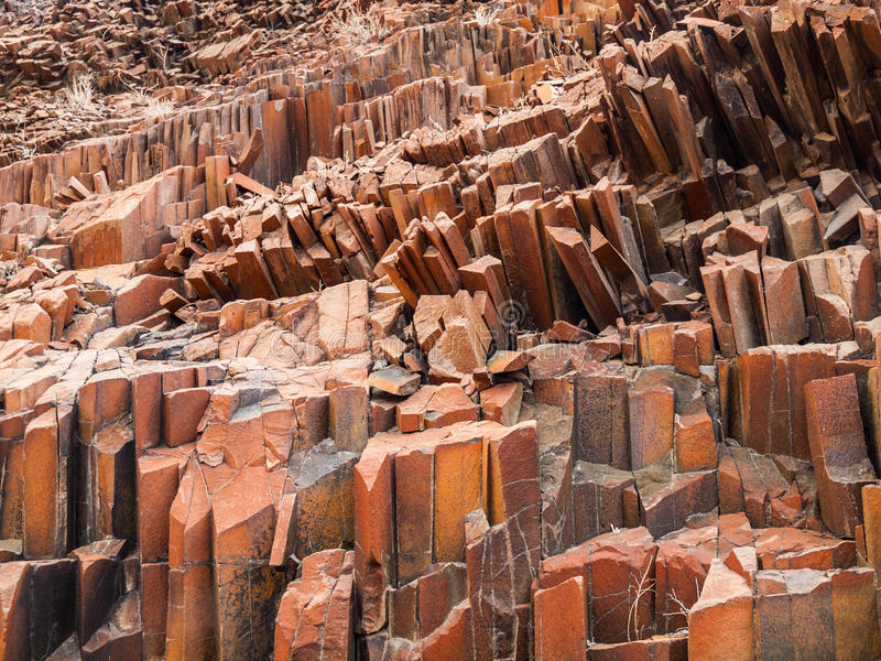 Organ pipes rock formations royalty free stock photo