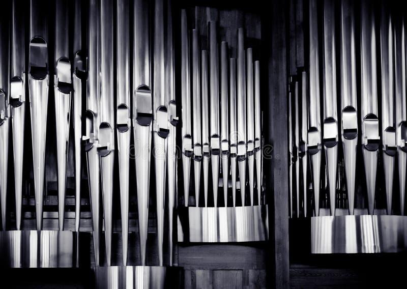 Organ pipes set. Church organ pipes. The shining of music stock images