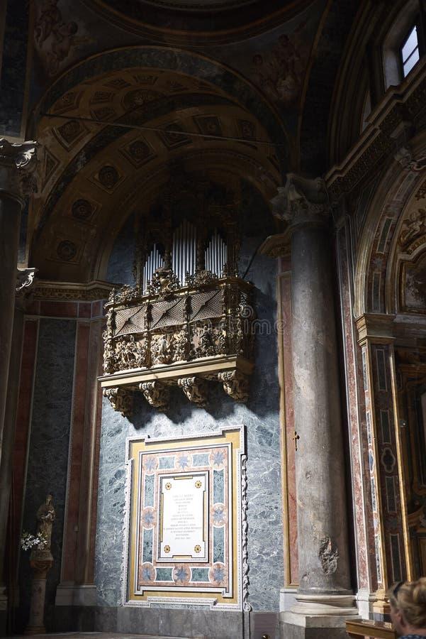Organ przy kościół obraz royalty free