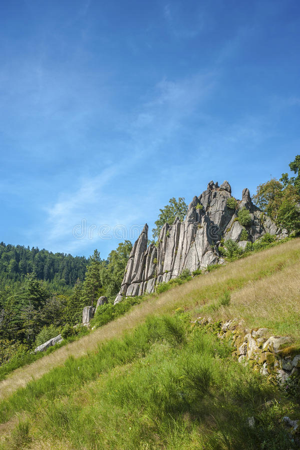 The organ rocks near Reichtal. In the Black Forest. Baden-Wurttemberg, Germany, Europe stock photos