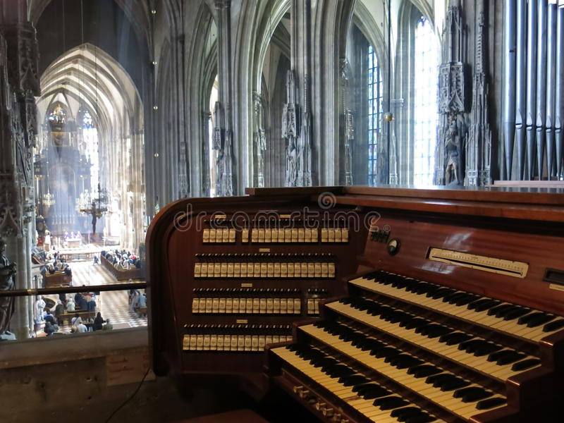 Organ in St. Stephens Cathedral royalty free stock images
