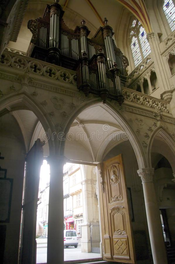 Organ of St. Vincent Cathedral royalty free stock images