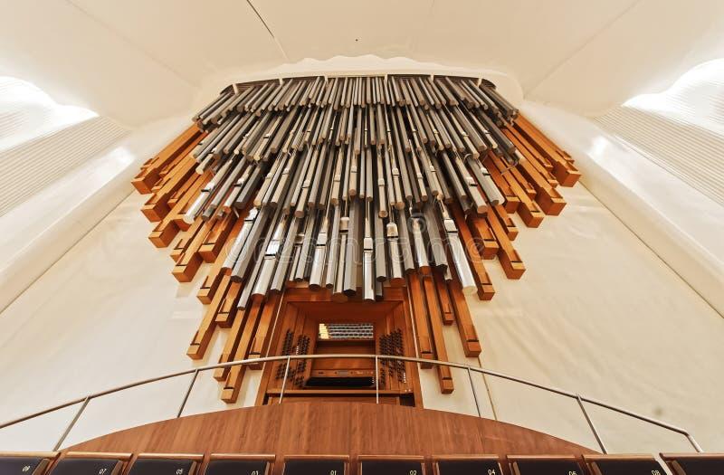 Organ w filharmonii zdjęcie stock