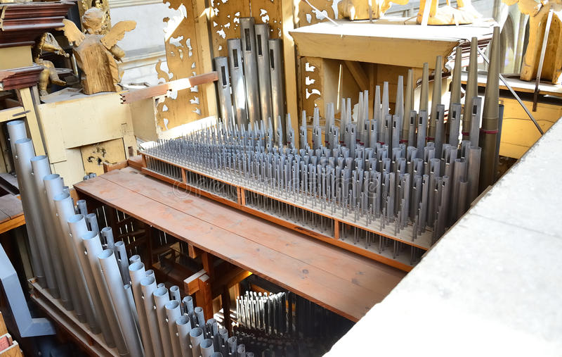 Organ w kościół obrazy royalty free