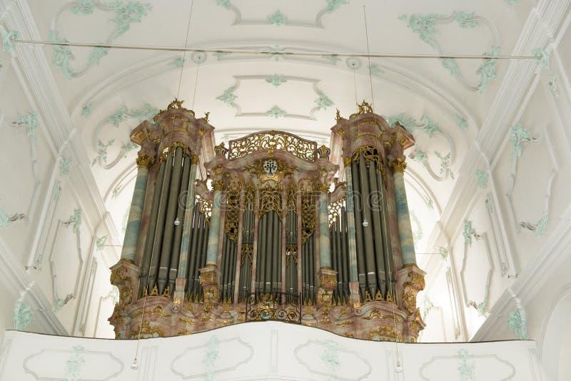 Organ w kościół w Niemcy obraz stock