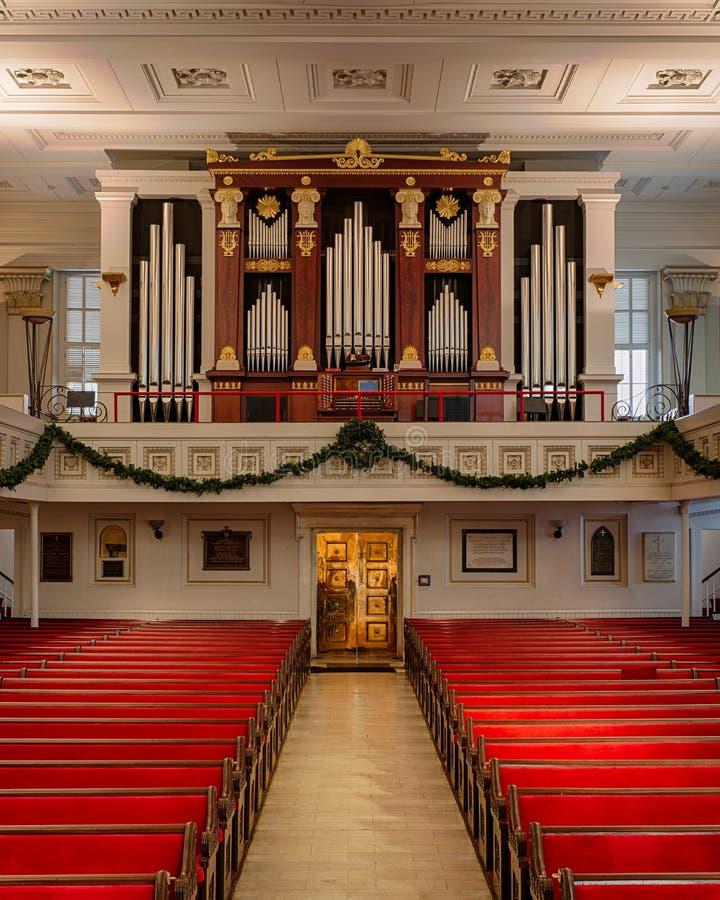 Organe de l'église épiscopale de St Paul photo stock