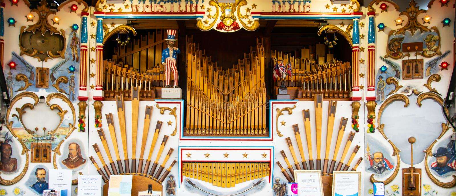 Organe de Whistlin Dikie photos stock