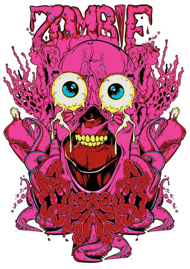 Organes de zombi illustration stock