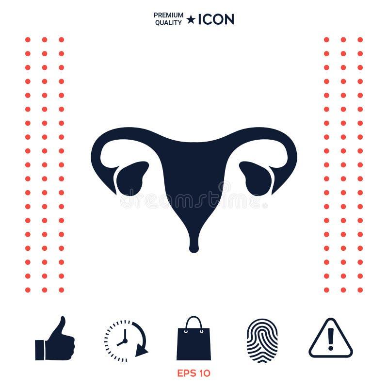 Download Organi Umani Icona Femminile Dell'utero Illustrazione Vettoriale - Illustrazione di cura, semplice: 117975618