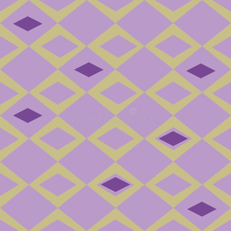 Organic abstract modern purple and beige diamonds seameless pattern. vector illustration