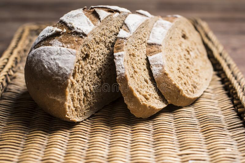 Artisan brown bread stock photography