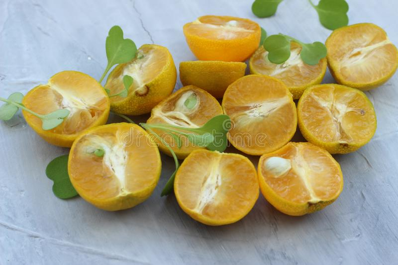 Organic background from orange. The concept of healthy drinks, copy space, closeup royalty free stock image