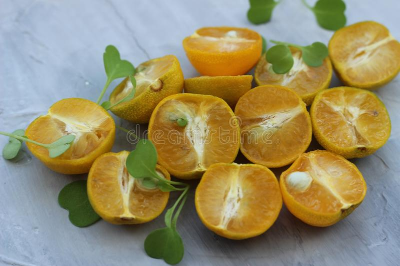 Organic background from orange. The concept of healthy drinks, copy space, closeup stock photography