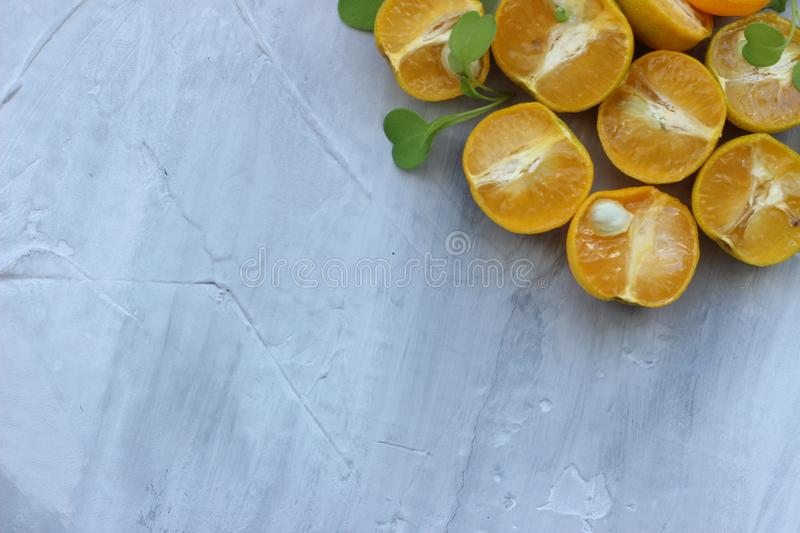 Organic background from orange. The concept of healthy drinks, copy space, closeup royalty free stock images