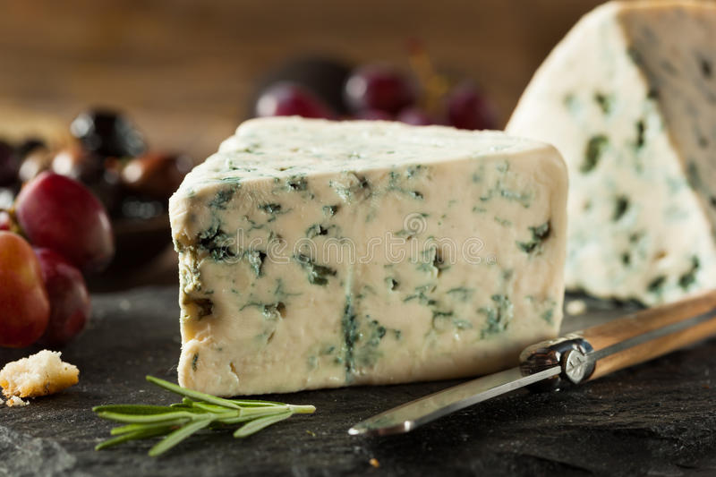 Organic Blue Cheese Wedge royalty free stock images