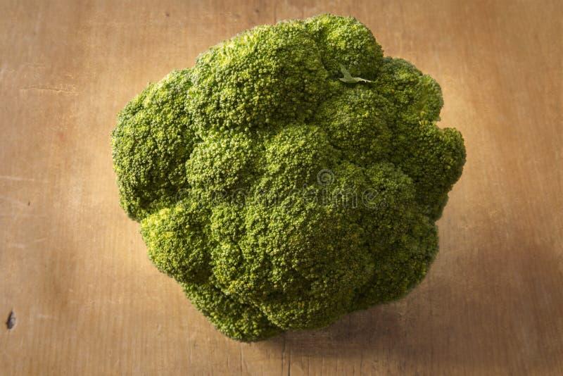 Organic broccoli stock image