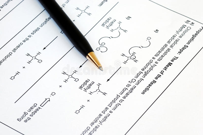Download Organic Chemistry stock image. Image of industrial, course - 13380529