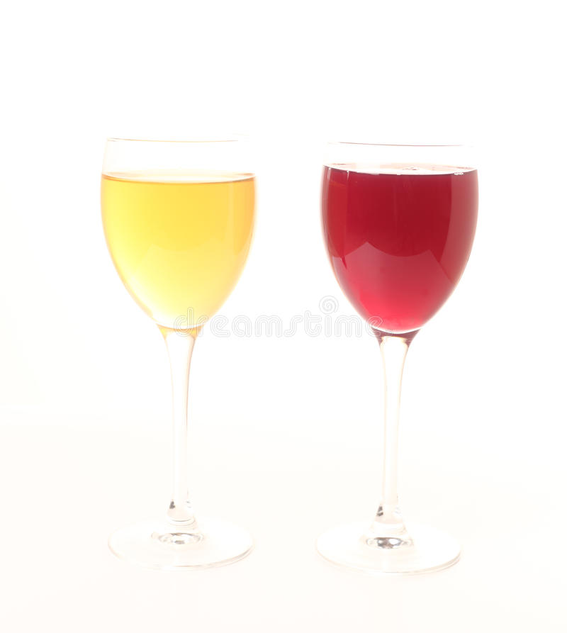 Organic colorful juices stock image