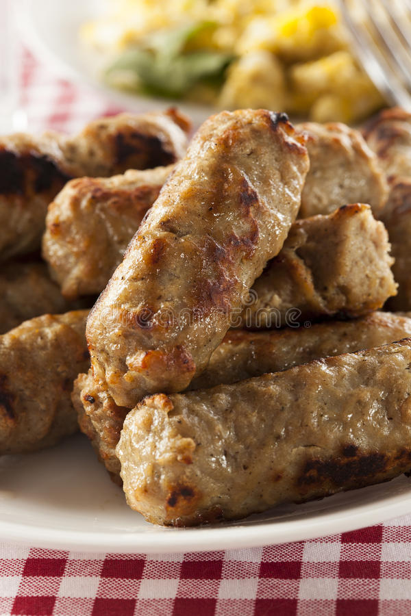 Free Organic Cooked Maple Breakfast Sausage Royalty Free Stock Photography - 30324807
