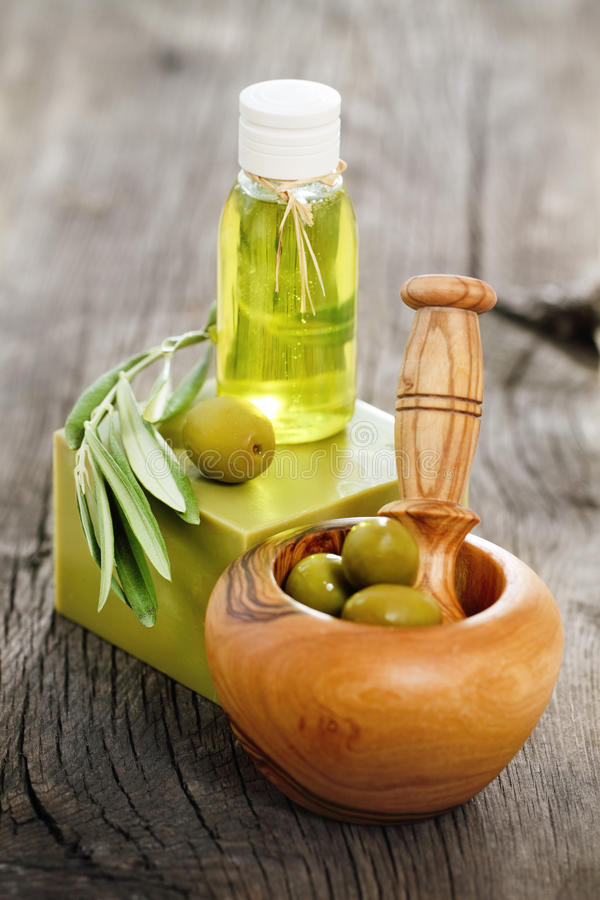 Organic cosmetics stock image