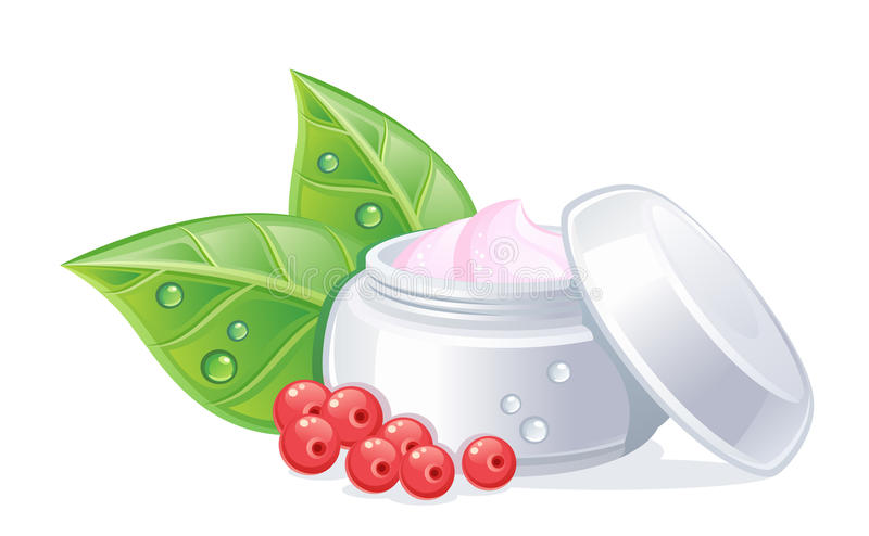 Organic cosmetics stock illustration