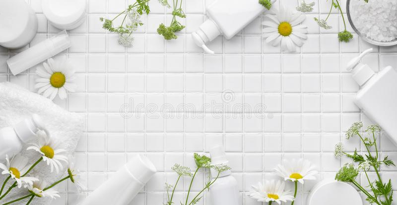 Organic cosmetics royalty free stock photography