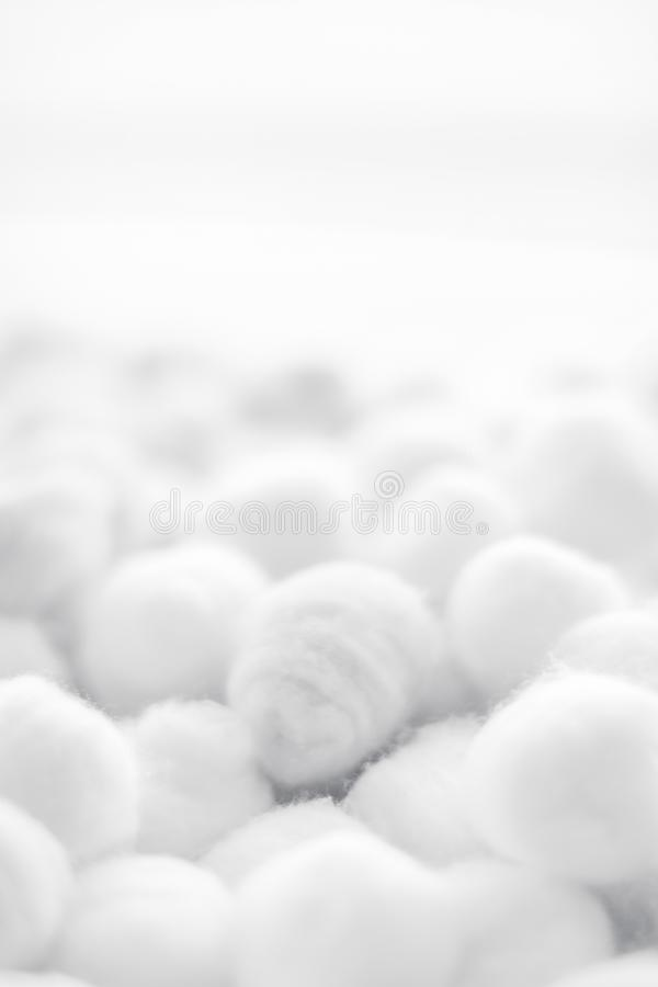 Organic cotton balls background for morning routine, spa cosmetics, hygiene and natural skincare beauty brand product as royalty free stock photos