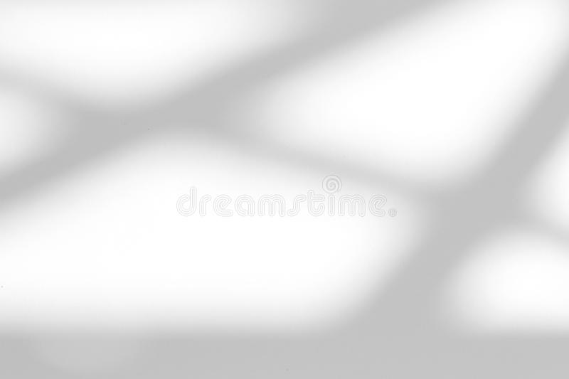 Organic drop shadow on a white wall. Organic drop diagonal shadow on a white wall. Overlay effect for photo, mock-ups, posters, stationary, wall art, design royalty free stock photo