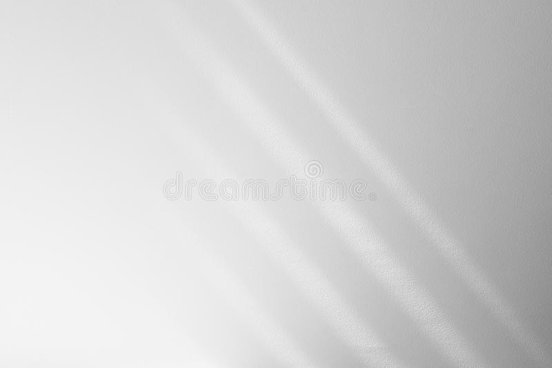 Organic drop shadow on a white wall. Organic drop diagonal shadow on a white wall, overlay effect for photo, mock-ups, posters, stationary, wall art, design royalty free stock image