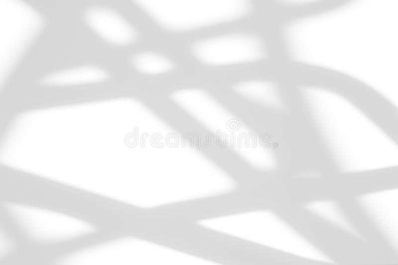 Organic drop shadow on a white wall. Organic drop diagonal shadow on a white wall, overlay effect for photo, mock-ups, posters, stationary, wall art, design stock photo