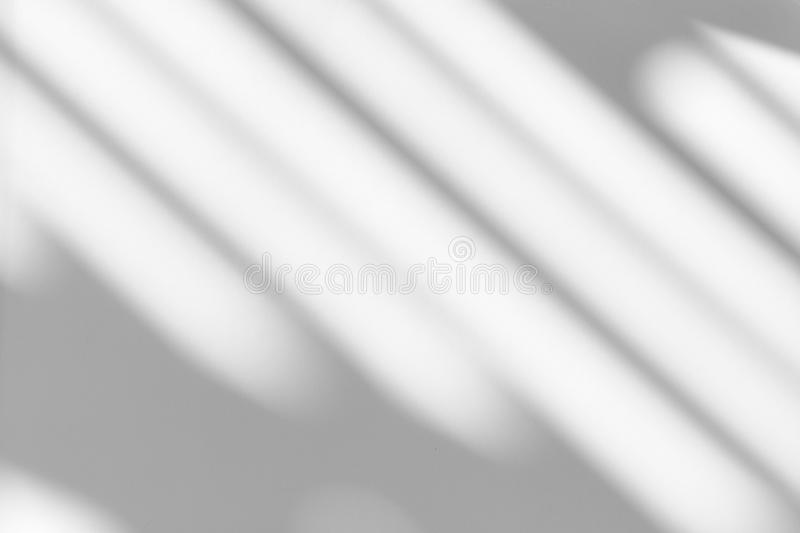 Organic drop shadow on a white wall. Overlay effect for photo, mock-ups, posters, stationary, wall art, design presentation, blurred, minimal, concept royalty free stock photography