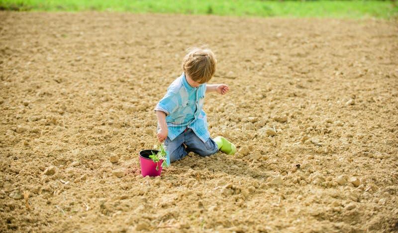 Organic farm. planet protection. ecology life. eco farm. human and nature. earth day. new life. summer farm. happy child. Gardener. plant nursery. Spring season stock image