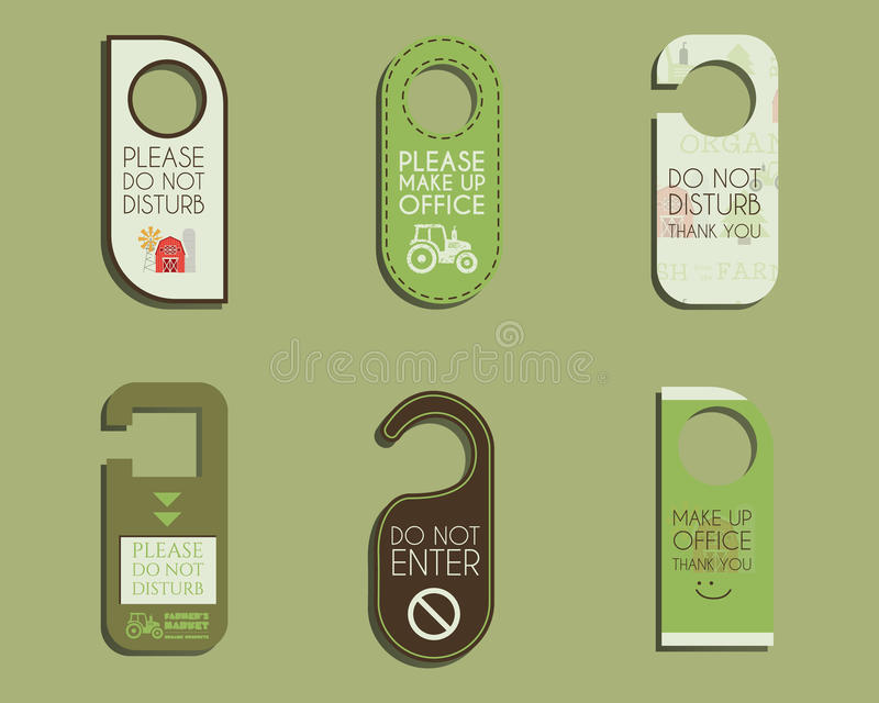 Organic Farm Shop And Other Eco Business Door Stock