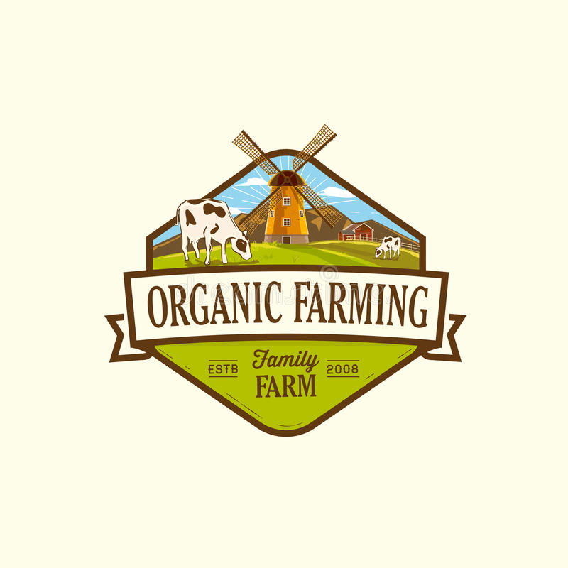 Organic & farm-vector labels and elements royalty free stock images