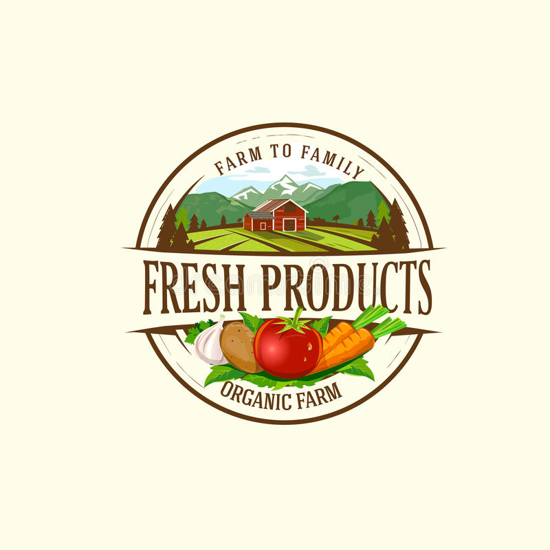 Organic & farm-vector labels and elements royalty free stock image
