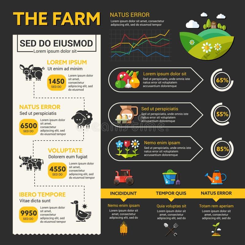 Set Of Labels For Natural Farming: Organic Farming Design Elements Stock Vector