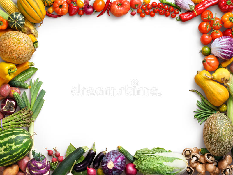 Organic food background. Food photography different fruits and vegetables stock image