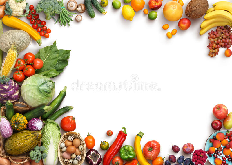 Organic food background. Food photography different fruits and vegetables royalty free stock photos