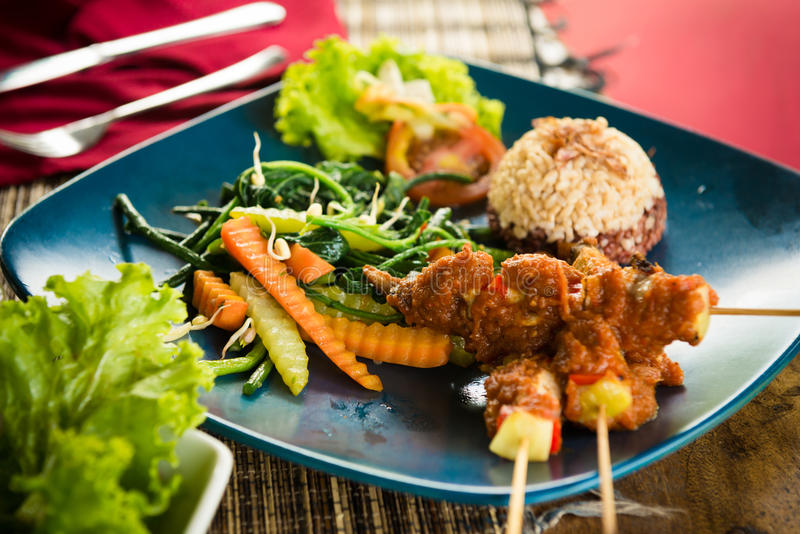 Organic food of Bali stock images