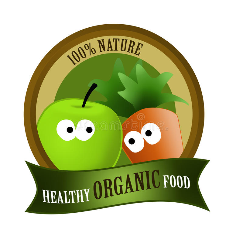 Organic food healthy stock illustration
