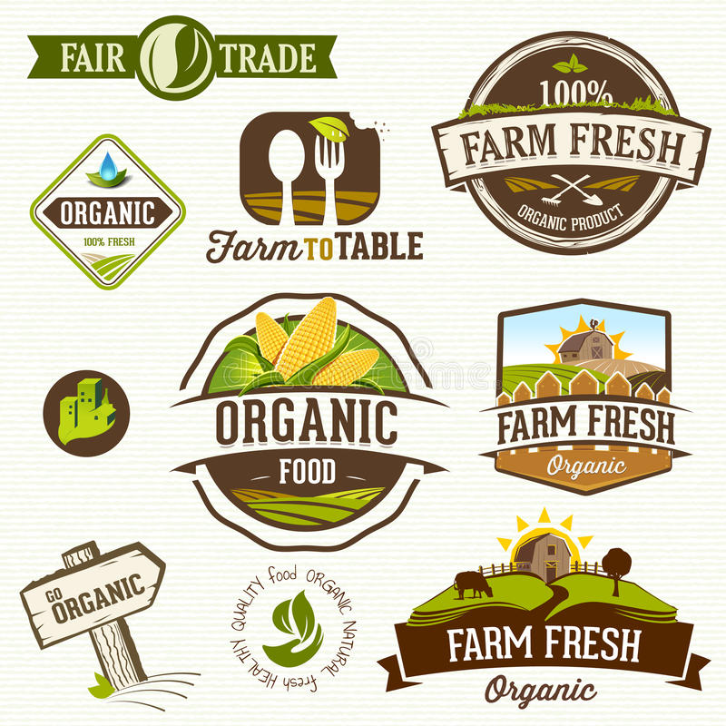Organic food - Illustration stock illustration