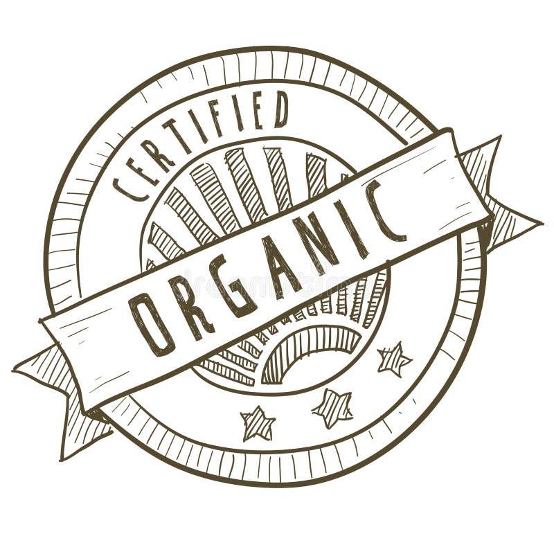 Organic food label stock illustration