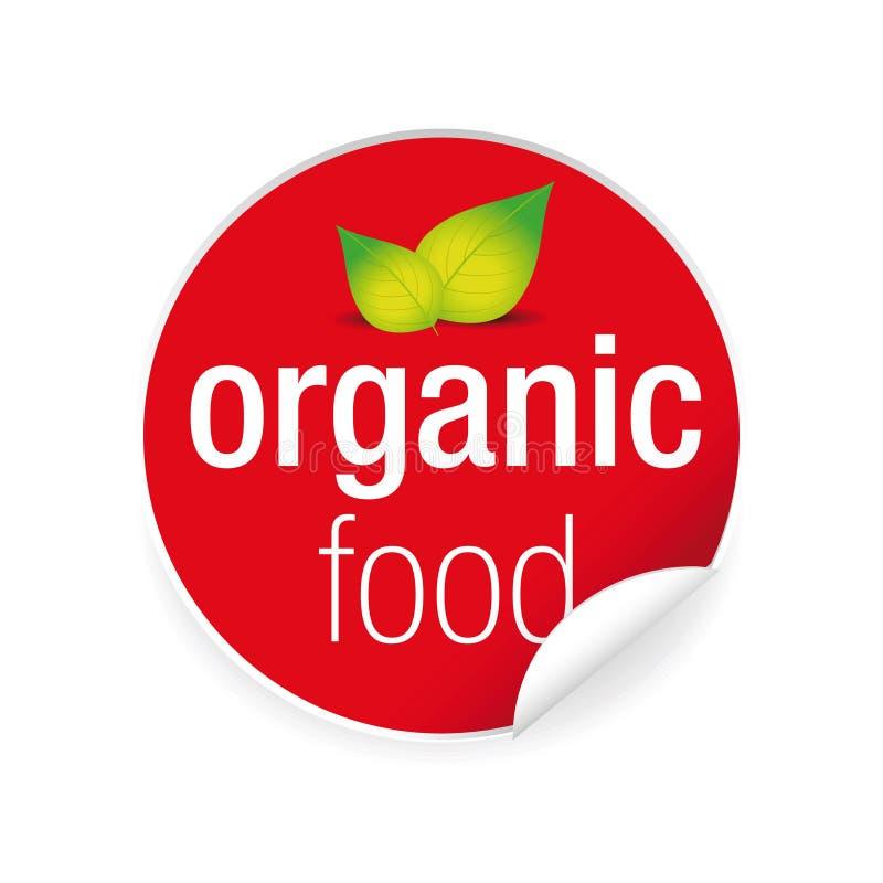 Organic food label tag sticker royalty free illustration