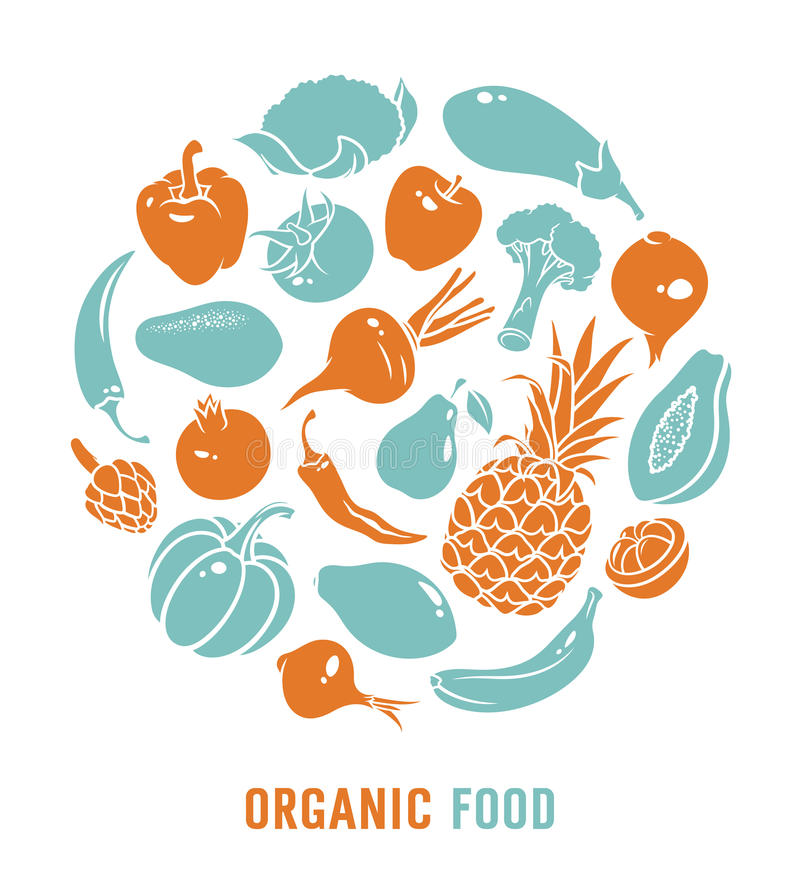 Organic food vector royalty free illustration